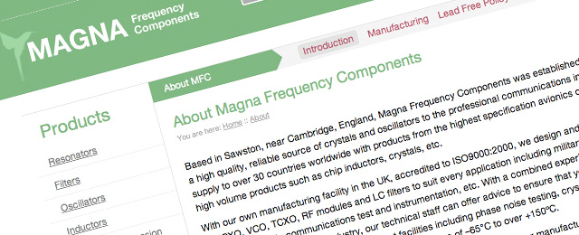Magna Frequency Components New Website